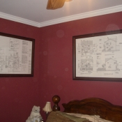 GuestRoom with Framed Drawings